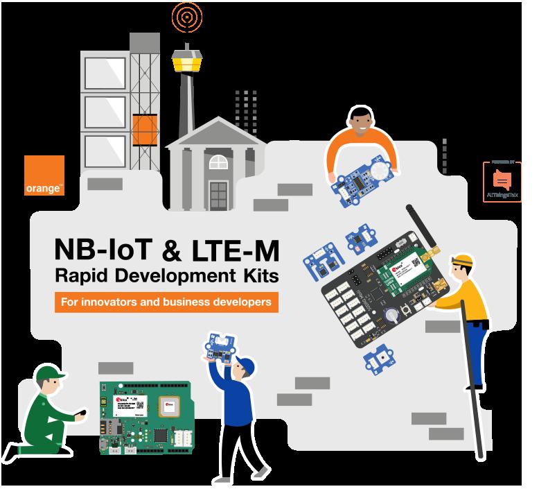 Orange-NB-IoT-and-LTEM-Rapid-Development-Kits